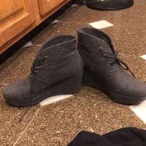 BCBG GREY BOOTIES / still in great condition!